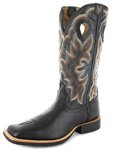 Twisted X Boots RUFF STOCK 1963 Schwarz Herren Westernreitstiefel