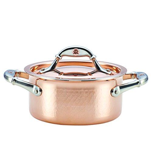 Ruffoni Symphonia Cupra Stainless Steel Casserole Dish/Casserole Pan with Lid - 1.5 Quart, Brown
