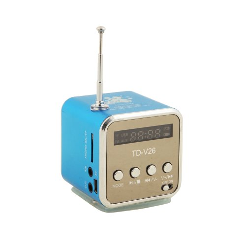 TD-V26td-v26-be-01Mini Altavoz Portátil Digital para PC portátil MP3/MP4/iPod/iPhone Azul