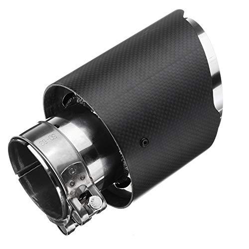 """KKmoon Puntas de Escape 63-101mm Tubo de Escape de Cola de Silenciador, Acero Inoxidable y Fibra de Carbono,Entrada 63 mm (2.5"""") Salida 101 mm (3.97"""")"""