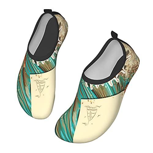 Zapatos unisex para exteriores, de secado rápido, zapatos planos de verano para viajes de verano muy adecuados para actividades al aire libre, kayak, surf, yoga, zapatos de playa, color, talla 46 EU