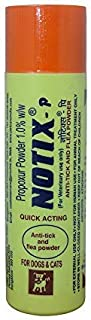 wuff-wuff Notix Anti-Tick and Flea Pet Care Powder for Dogs, 100 g