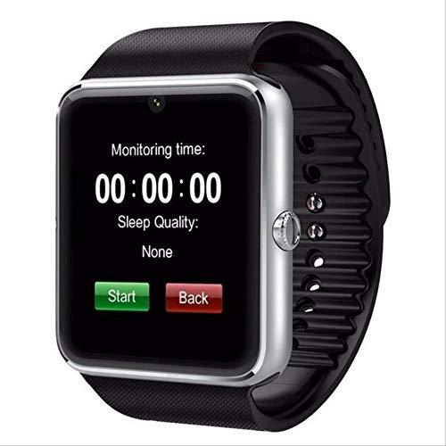XYQY Smart Watch Android Gt08 Uhr mit SIM-Karte Slot Push Nachricht Bluetooth Konnektivität Android Telefon Pk Dz09 Smartwatch Männer Silber