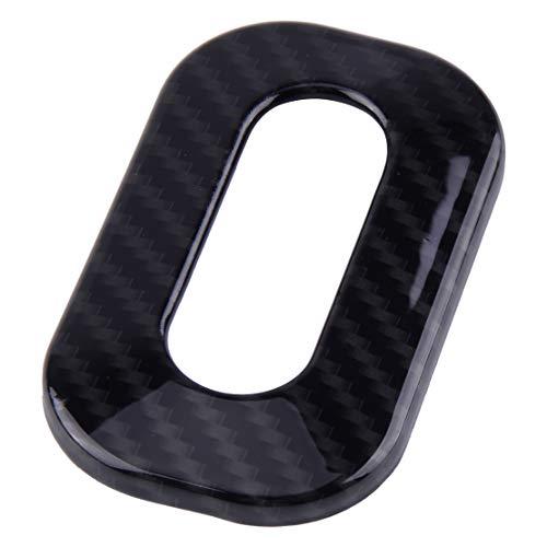 CITALL Garniture du couvercle du bouton de l'interrupteur de siège texturé en fibre de carbone