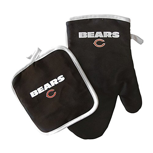 Pro Specialties Group NFL Chicago Bears Oven Mitt and Pot Holder Set