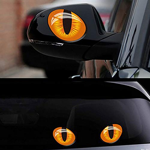 NAttnJf 2 Stücke Simulation Cat Eye Auto Auto Aufkleber Fahrzeug Fenster Körper Vinyl Aufkleber Decor