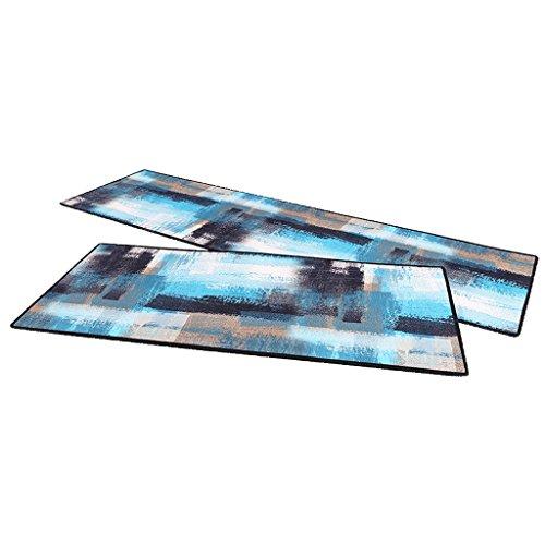Möt kärlek modern minimalistisk köksgolvmatta för oljebeständig och vattentät hushåll dörrmatta motstånd mot smuts halkfri (färg: A, storlek: 50 x 80 cm)