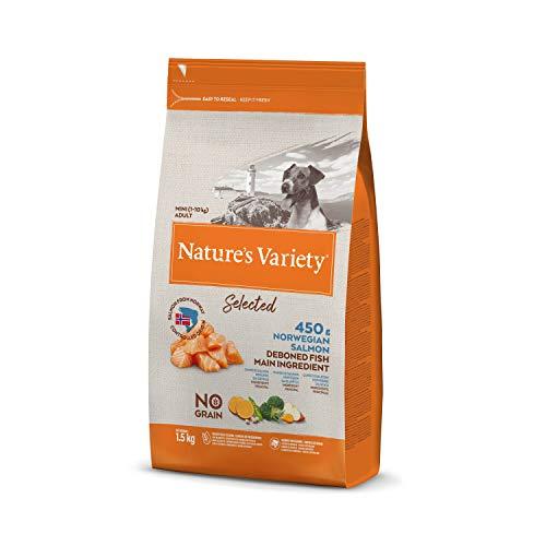 Nature's Variety Selected - Pienso para perros adultos mini con salmón noruego sin espinas 1,5 Kg