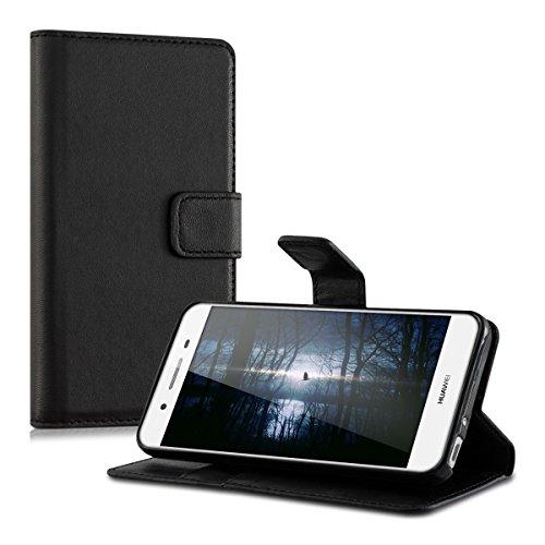 kwmobile Huawei GR3 / P8 Lite SMART Hülle - Kunstleder Wallet Case für Huawei GR3 / P8 Lite SMART mit Kartenfächern und Stand - Schwarz - 5