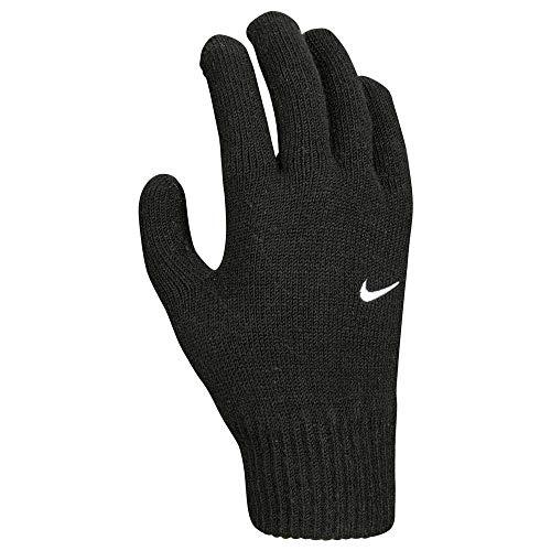 Nike Herren Swoosh Knit 2.0 Handschuhe, schwarz/weiß, S/M