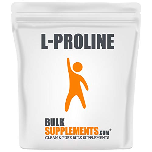 BulkSupplements.com L-Proline Powder - Amino Acids Supplement for Women - Amino Acids Supplement for Men - Supplements for Skin (500 Grams - 1.1 lbs)