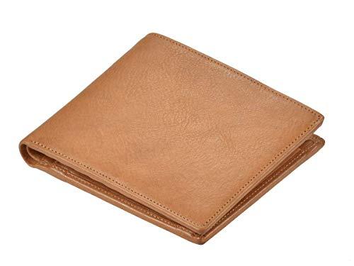 Sonnenleder Geldbörse Leder Geldbeutel Portemonnaie Trave für Damen und Herren naturbraun