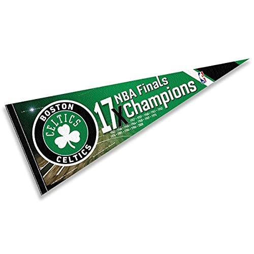 WinCraft Boston Celtics 17 Time Champions Pennant Flag