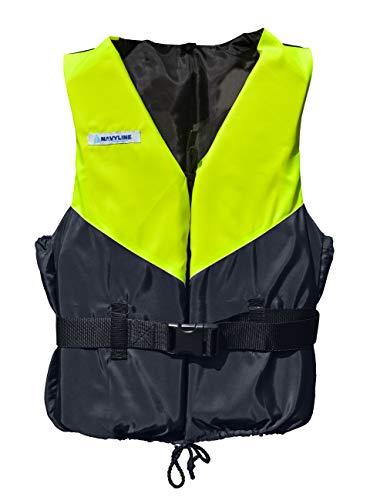 Navyline 50N Schwimmweste Damen Herren, Farbe:gelb/Navyblau, Größe:30-50kg