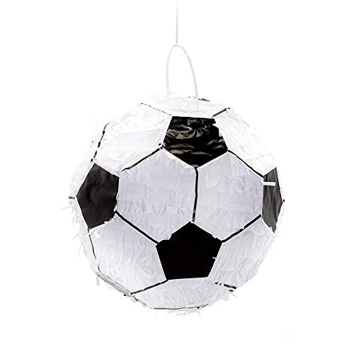 Party Factory Pinata Fußball schwarz weiß 27cm Durchmesser Partyspiele Kinder Geburtstag Deko Dekoration Geburtstagsdeko