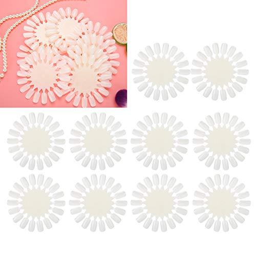 10 Stück/Set Nagel-Ständer mit künstlichen Spitzen, Nagellack-Gel-Palette, Nagelkunst-Übungskarte