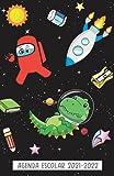 Agenda Escolar 2021-2022: dia por pagina de agosto de 2021 a julio de 2022 con la fecha. , calendario, vacaciones escolares, Empleo del tiempo , ... , Primaria Colegio Secundaria , dinosaurio