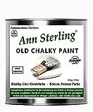Ann Sterling Kreidefarbe Shabby Chic Farbe: Chalky White/Weiß 0,5Kg. Lack Chalky Paint