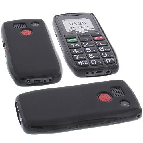 foto-kontor Tasche für Artfone C1 Hülle Gummi TPU Schutz Handytasche schwarz
