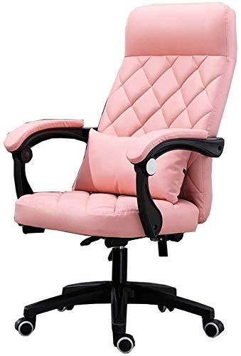 DFKDGL Stuhl Bürostuhl mit hoher Rückenlehne Großer Sitz und Kippfunktion Latexkissen Office Executive Drehstuhl PU-Lager Ca für Office Lounge Esszimmer Küche Schlafzimmer