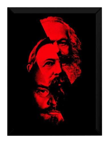 Quadro Arte Karl Marx Friedrich Engels Lenin Comunistas