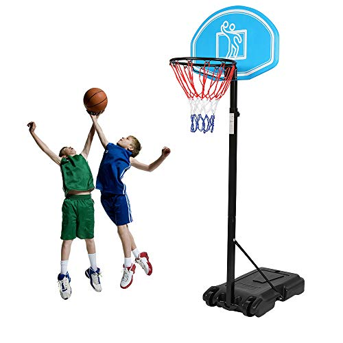"Cozy Dio Basketball Hoop & Goal Basketball System Height Adjustable 65""-104"" Basketball Stand..."