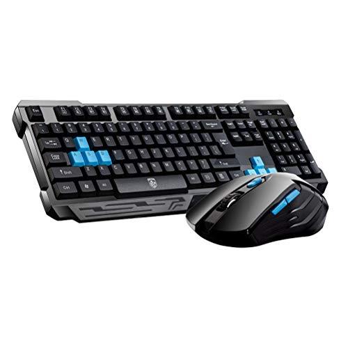 Uonlytech Cool Wireless USB Ergonomic Gaming Mechanical Keyboard Gamer Mouse Sets