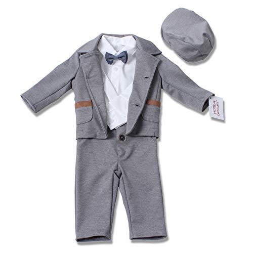 HOBEA-Germany Taufanzug Jungen, Taufkleidung Junge, Anzug Baby Junge für die Taufe für Babys und Kinder (98, Paul)