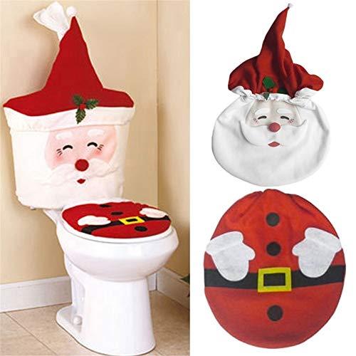 Kylewo Juego de decoración navideña para WC