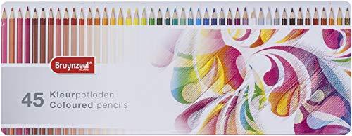 Bruynzeel - 45 kleurpotloden in metalen etui