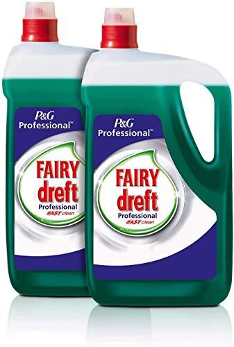 Fairy Profesional Lavavajillas Líquido a Mano Fast Clean, 10L (Pack 2 x 5L)