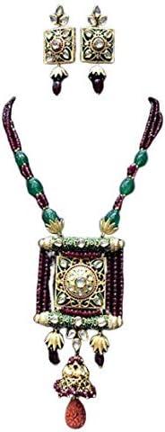 Bollywood Fashion Wedding Nacklace Earrings Vihan Indian Kundan Jewelry Sets