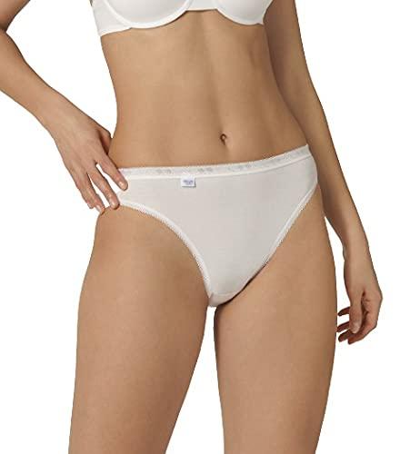 sloggi Basic+ Tai - Lot de 4 - Culotte échancré taille haute femme -Blanc (WHITE 0003) - FR:42 (EU:40)