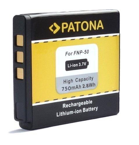 PATONA Ersatz für Akku Fuji NP-50 NP-50A und Pentax D-Li68