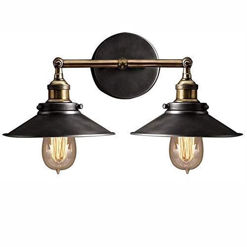 Plafondlamp Wandlamp, met 2 Lamp Holder, verstelbare metalen arm Muurlampen Slaapkamer Woonkamer Simple Industrial Decoration Wandlamp