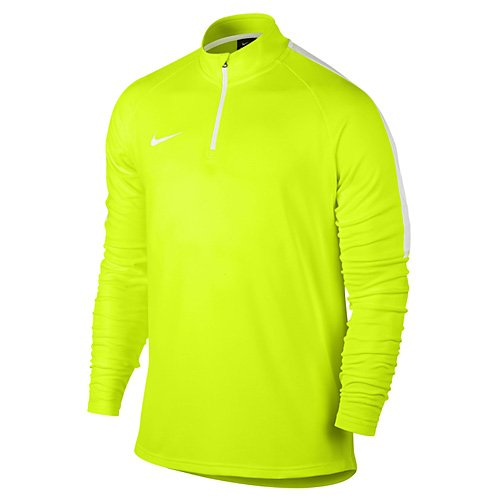 Nike Top Uomo Manica Lunga Dry Drell acdmy, Uomo, M Dry Dril Top Academy, Volt/White, XL