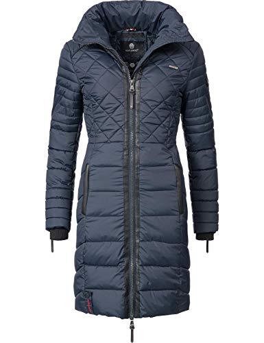 Navahoo Damen Winter-Mantel Steppmantel Ronin Blau Gr. XS