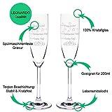 Leonardo Sektgläser im Set mit Gravur Schlechter Tag, Guter Tag - Frag nicht! - Stimmungsglas - Lustiges & Originelles Geschenk - Geeignet für Champagner & Sekt - 2