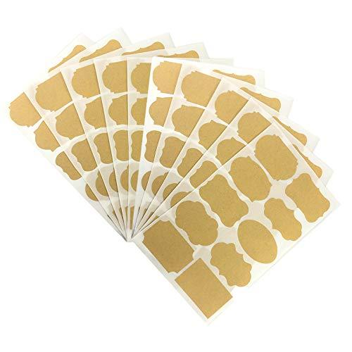 100 etiquetas adhesivas de papel para tarros, etiquetas kraft para cocina, pegatinas para hornear en casa, pegatinas para álbumes de recortes, etiquetas y manualidades, regalos hechos a mano