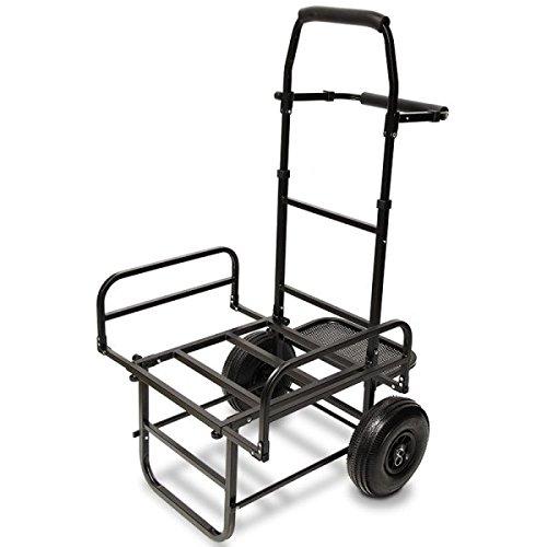 G8DS® Trolley zusammenklappbarer Transportwagen Karpfen Tacklekarre Ausrüstungswagen für`s Angeln