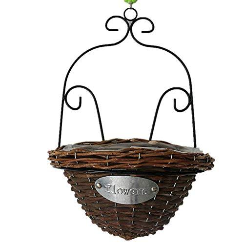 Funihut bloempot, hangmand, rotan, mand binnen of buiten, bloempot, strommmand, decoratief voor thuis, hotel, kantoor, bruiloft
