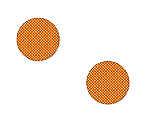 AG Design A-CZ-079 sticker reflector rond, 3D, diameter 2,5 cm, set van 2, oranje