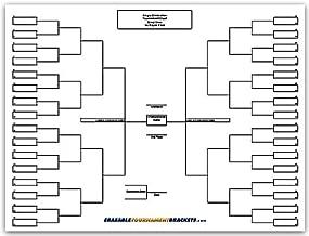 Zieglerworld Cornhole 64 Player Erasable Blinded Draw Single Elimination Tournament Bracket Chart