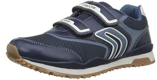 Geox Jungen J Pavel a Sneaker, Blau (Navy/Avio C0700), 32 EU