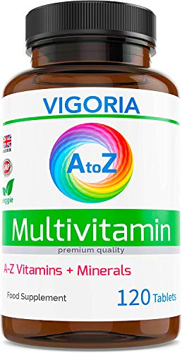 Multivitaminas y Minerales A-Z Fórmula Completa 180 Comprimidos - Envase para 6 Meses - Suplemento alimenticio Multivitamínico para la Salud y el Bienestar General - para Mujeres y Hombres | Made in UK