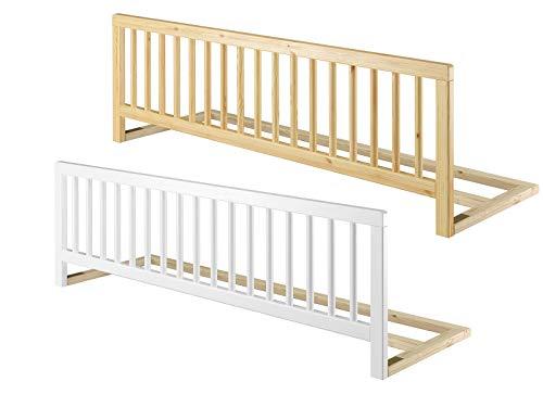 Universeller Rausfallschutz für Betten Kindersicherung Massivholz Bettgitter klappbar 60.Kisi, Holzart/Holzfarbe:Kiefer weiß
