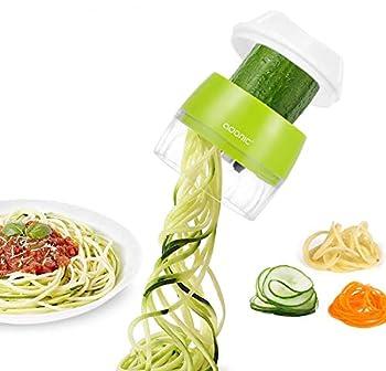 Handheld Vegetable Slicer Adoric Vegetable Spiralizer Upgraded 4 in 1 Heavy Duty Veggie Spiral Cutter - Zoodle Pasta Spaghetti Maker