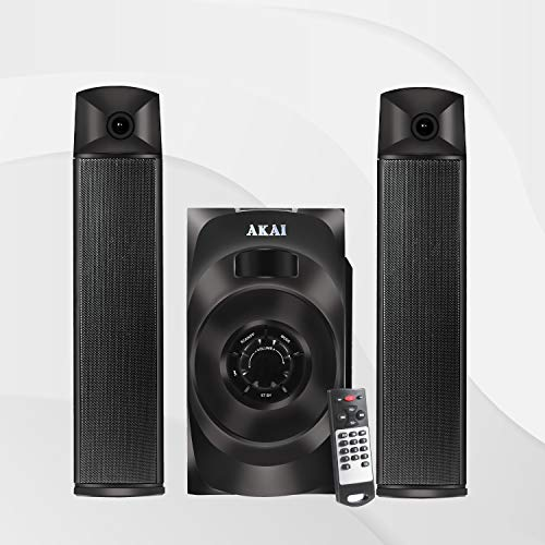 Akai Audio 2.1 Satellite Speaker HA-SS65 Powerful 65W RMS, Convertible as soundbar with Full Function Remote Control