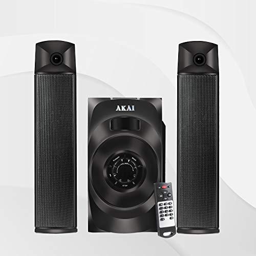 Akai Audio 2.1 Satellite Speaker HA-SS65 Powerful 65W RMS, Convertible as soundbar with Full Function Remote Control