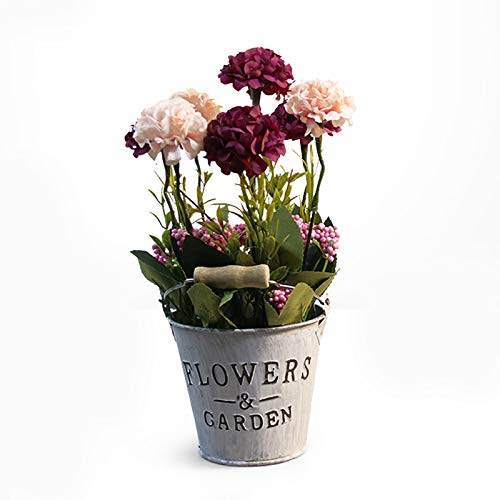 Qagazine Sztuczne aranżacje kwiatów w wazonach żelazna sztuka doniczka na kwiaty metal styl sielski artykuły ogrodowe na ślub przyjęcie sceniczne elementy parapetu dekoracja